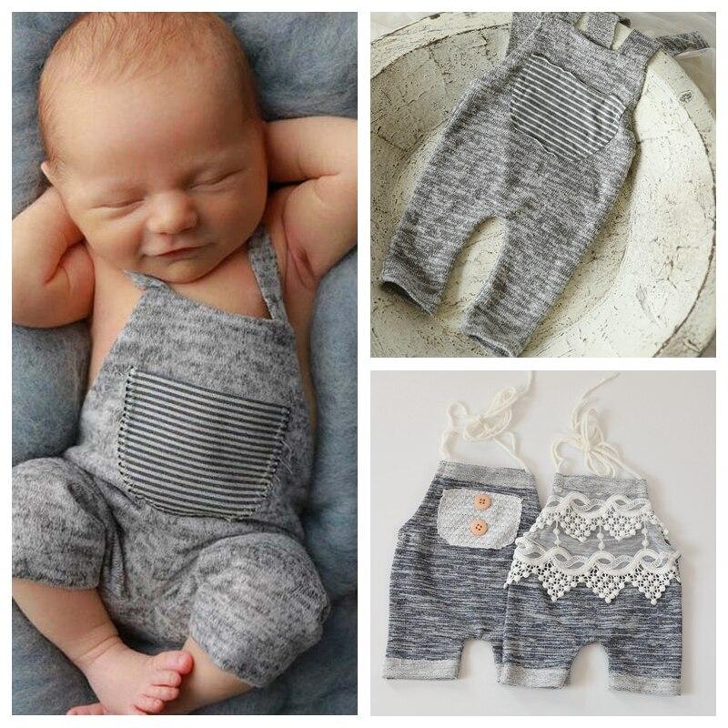 Baby Suspenders Braces Kids Newborn Photography Props Knitted baby costume  jumpsuit bebe Flokati Studio Photographs