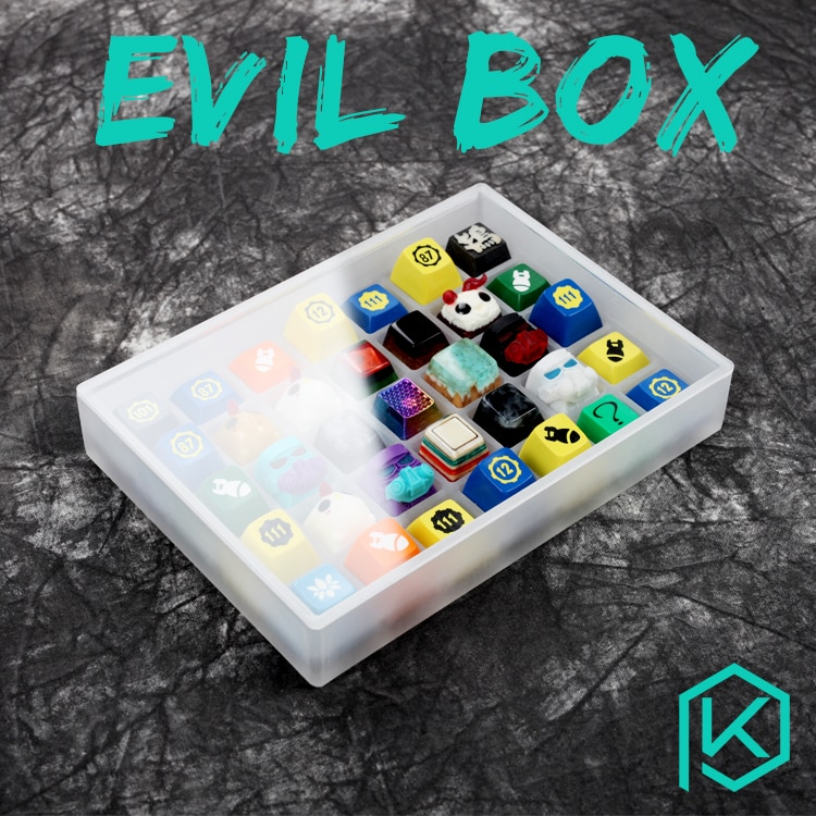 [Nur box] böse box acryl tastenkappen box 7x5 tastatur sa gmk oem kirsche dsa xda tastenkappen box Für Keycap Set Lager Sammlung
