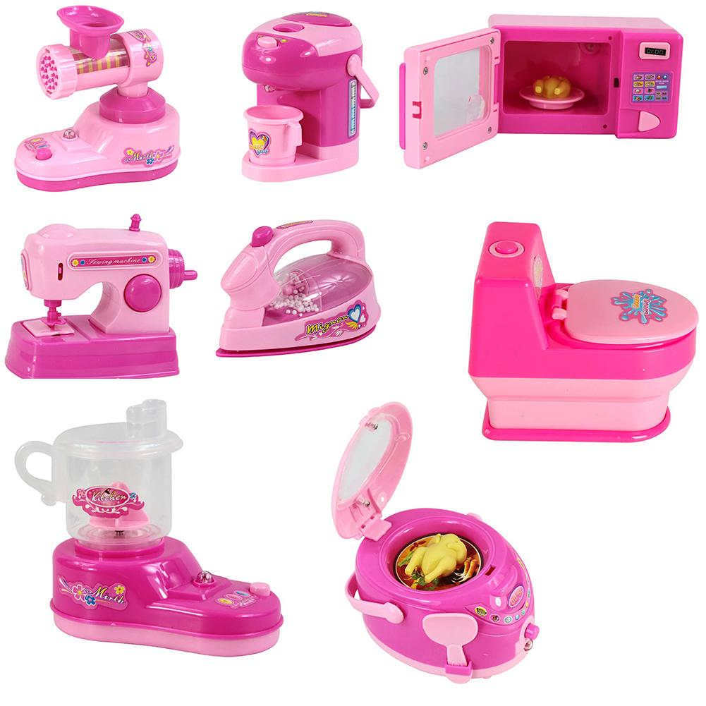 Kids Educational Simulation Mini Home Applianceswith Light Pretend Play Toy
