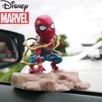disney marvel avengers spider man handmade doll set ornaments alliance toy car model car decorations