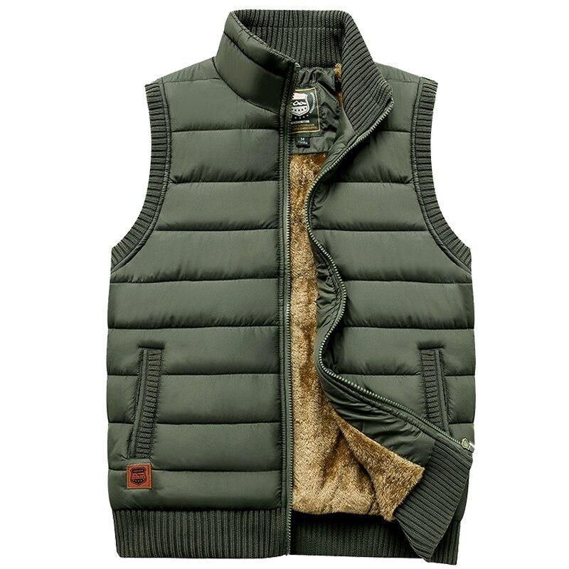 ماركة 2021 الرجال الشتاء رشاقته سترة سستة معطف دافئ جاكيت بلا إكمام الصوف عارضة الذكور سترة معطف الجيش الأخضر صدرية أسود