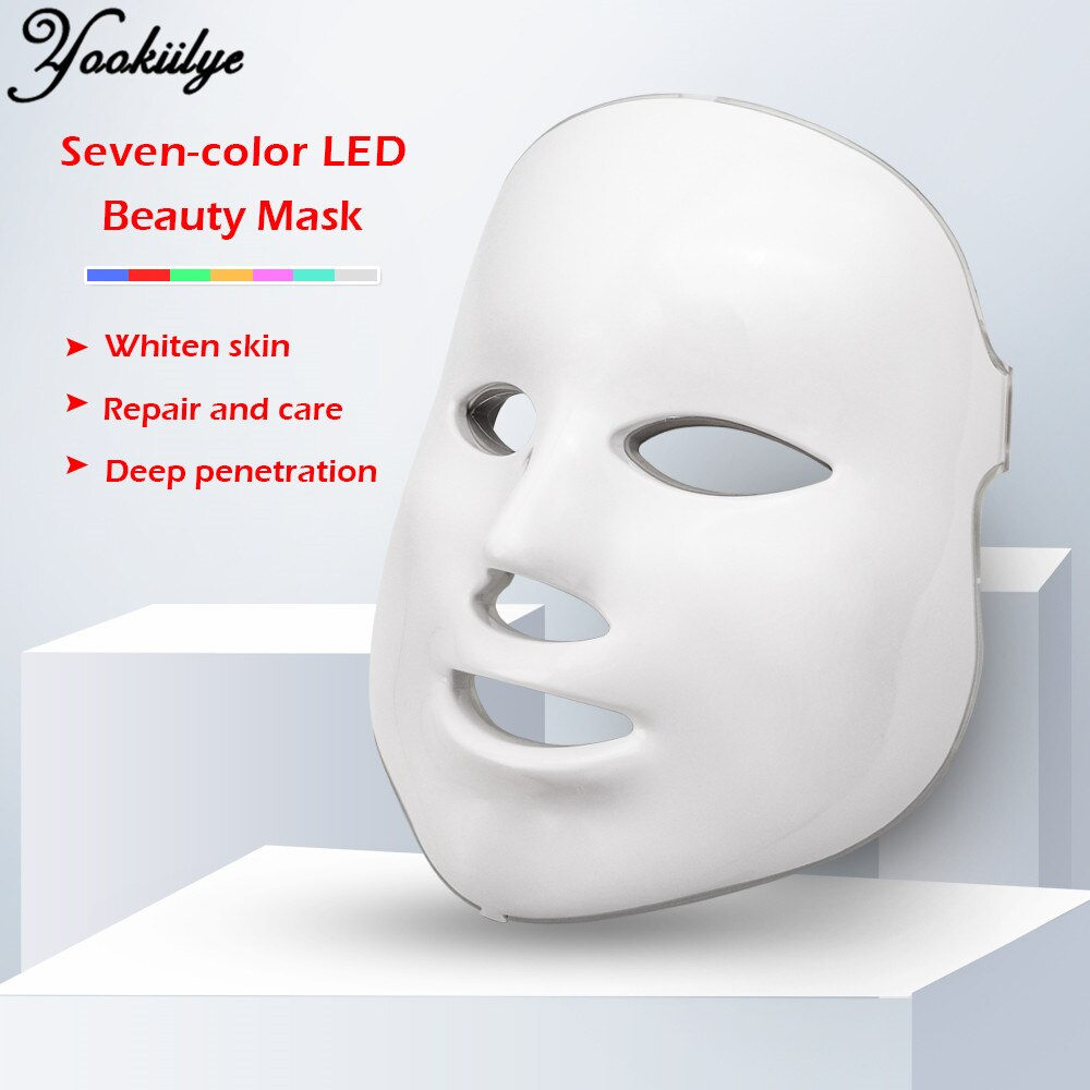 3 colors led photon therapy machine skin rejuvenation light therapy anti wrinkle acne removal beauty face care tool LED Facial Photon Therapy Machine 7 Colors Light Face Mask Skin Care Wrinkle Acne Removal Face Care Tool for Home Use Women
