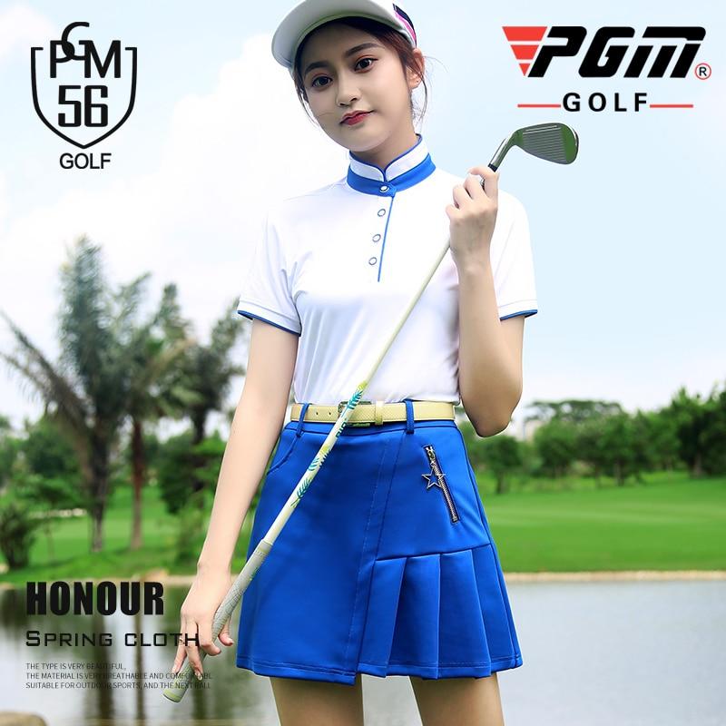 Conjunto de ropa deportiva de GOLF Pgm, ropa de tenis para mujer, camiseta de entrenamiento de manga corta, camiseta de verano con soporte antisudor