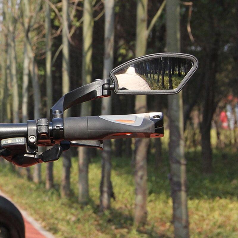 1 piezas de bicicleta espejo de alta calidad de acero MTB bicicleta de carretera vista trasera seguridad bicicleta del manillar del espejo retrovisor accesorios para bicicletas