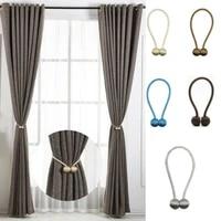 2pcs magnet hooks pearl ball curtain tiebacks tie backs holdbacks buckle clips tie rope accessoires hook holder home decorations