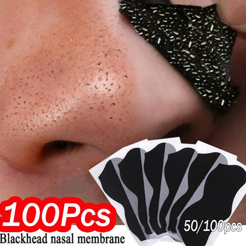 100pcs Nose Blackhead Remover Mask Deep Cleansing Skin Care Shrink Pore Acne Treatment Mask Nose Bla