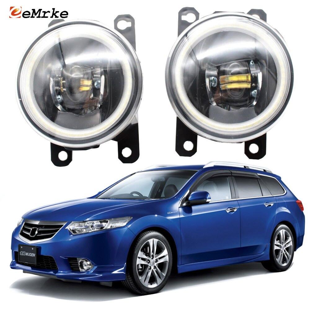 Luces de circulación diurna LED Ojo de Ángel DRL para Honda Accord VIII para Acura TSX 2011-2014, luces antiniebla, lente de corte para coche