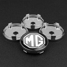 4pcs 56/60mm Wheel Center Hub Caps Car Emblem Badge Wheel Center Cap For Morris Garages MG 3 6 GS GT HS Car styling Accessories