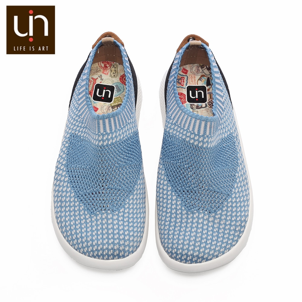 UIN Sicily Series Breathable Knitted Shoes for Children Pink/Blue Casual Loafers Kids Soft & Lightweight Sneakers for Boys/Girls enlarge