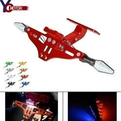Para ducati streetfighter/s 848 motocicleta suporte da placa de licença holde ângulo ajustável 1199 panigale/s/tricolor 1299 panigale