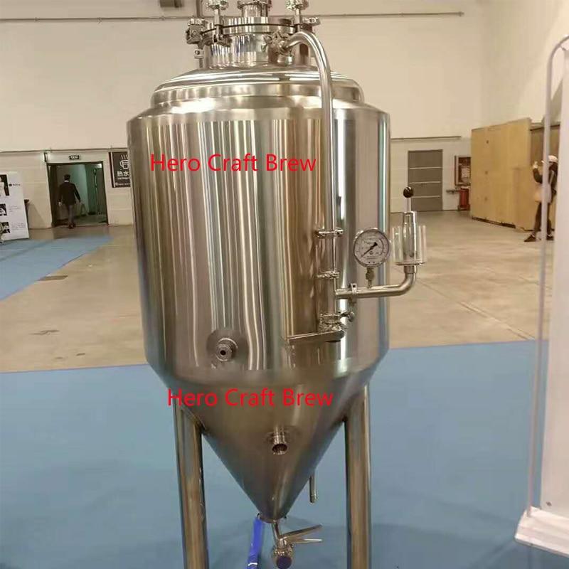 200L 300L 500L البيرة المشروب تخمير خزان مع سترة مصنوعة من الجليكول التخمير لتخمير البيرة