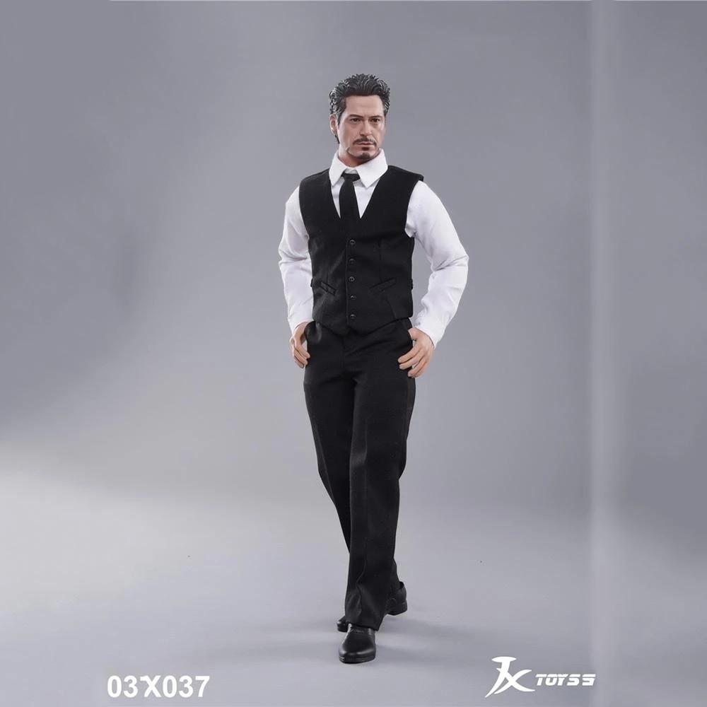 JXTOYS-037 1/6 весы мужской праздничный костюм с жилетом одежда аксессуар джентльмен Тони подходит 12 фигурку средства ухода за кожей