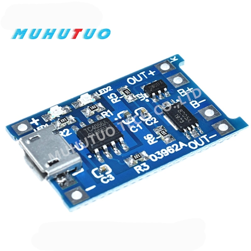 Фото - 5pcs Micro USB 5V 1A 18650 TP4056 Lithium Battery Charger Module Charging Board With Protection Dual Functions 1A Li-ion 10pcs 5v 1a type c usb 18650 lithium battery charging board charger module protection dual functions tp4056 module charging