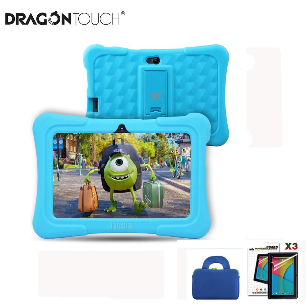 DragonTouch-جهاز لوحي Y88X Plus للأطفال ، جهاز لوحي للأطفال مقاس 7 بوصات ، 16 جيجابايت ، رباعي النواة ، أندرويد 8.1 ، حقيبة كمبيوتر لوحي ، واقي شاشة