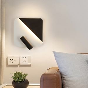Modern Wall Lamps Living Study Children's Room Bedside Bedroom Aisle Lights Indoor Lighting Double Switch 350 Degrees Rotatable
