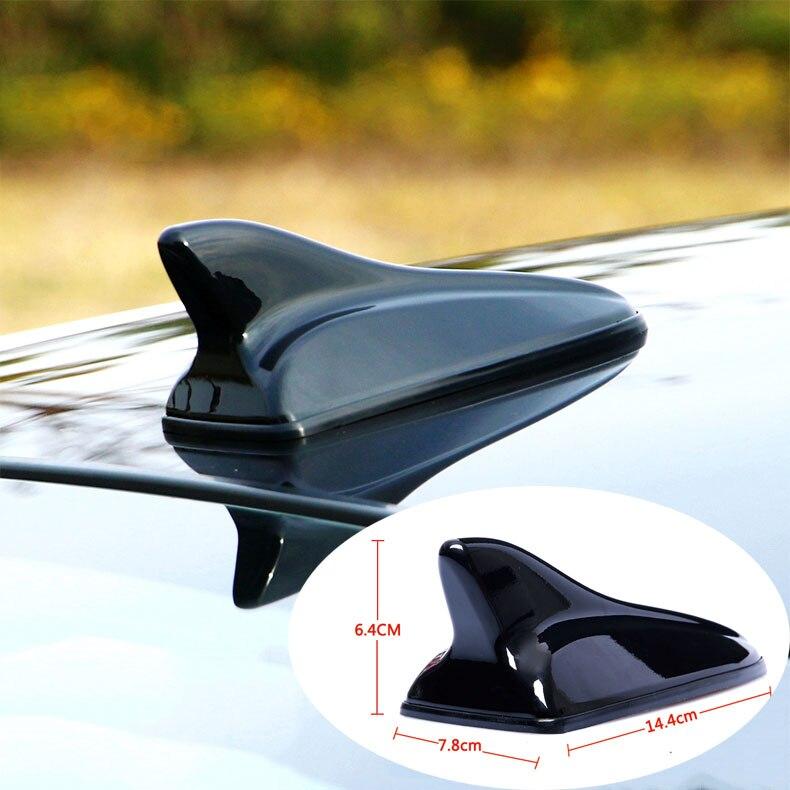 Para kia optima 2010-2019 carro preto brilhante tubarão antena rádio fm sinal antenas decorativas estilo do carro acessórios 1 pçs