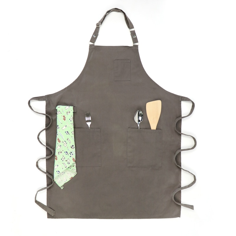 Eco-friendly Canvas Tool Milk Tea Chef Coffee Shop Simple Style Protect Overalls Multiple Colors enlarge