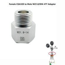 AU NZ SodaStream Co2 Tank Cylinder Regulator Adapter Converter Female CGA320 to Male W21.8 for Aquarium Fish, Homebrew Beer