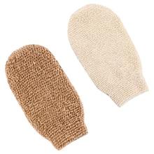 2 Pcs Exfoliating Gloves Bath Shower Gloves Natural Fiber Beauty Shower Body Gloves for Body Cleanin