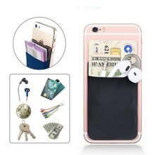 2019 Fashion Elastic Lycra Adhesive Cell Phone ID Credit Card Holder Women Sticker Pocket Wallet Cas