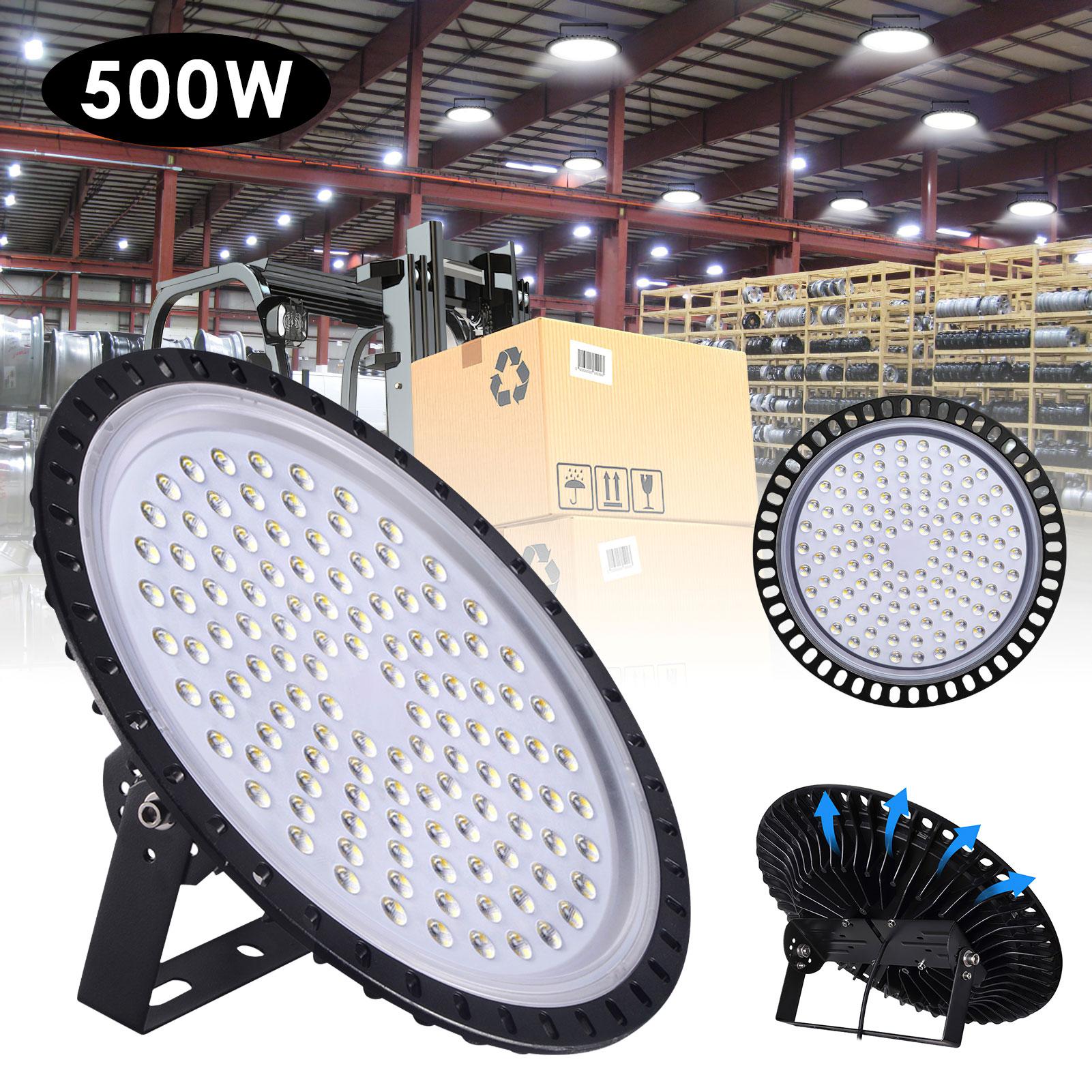 3rd Generation UFO Mining Lamp Cold White WaterProof LED HighBay Light Ultra Slim Mining Light for Garages Warehouse Basement