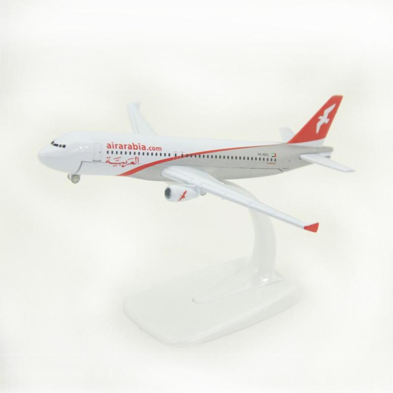 JASON TUTU 16cm modelo de avión de los Emiratos AirArabia Airbus A320 modelo de avión Diecast Metal 1400 aviones de escala