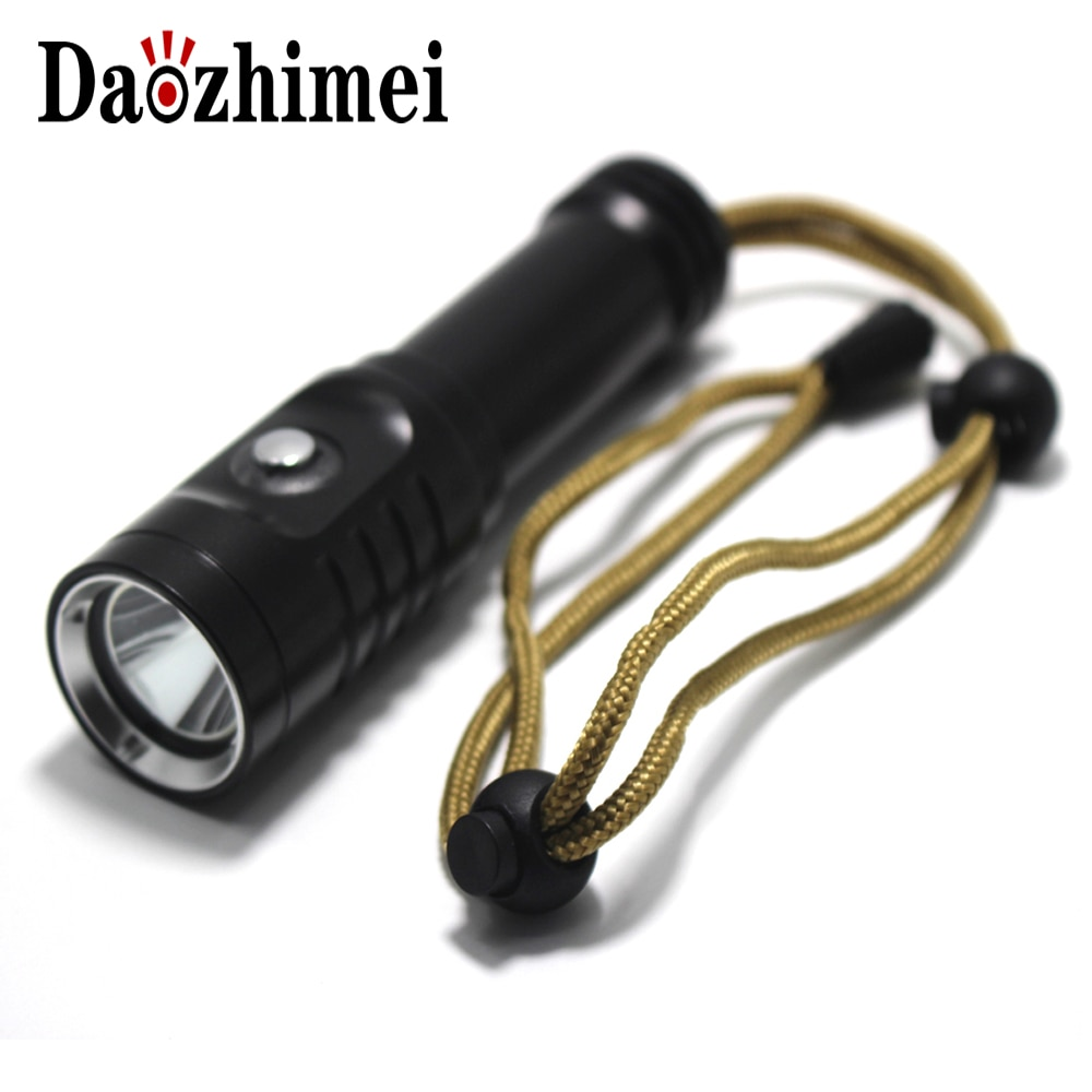 Waterproof IPX8 Dive Torch Camping Lanterna Underwater 80 Meter Diving LED Flash light Flashlight XM-L2 18650 Torch Lamp Light