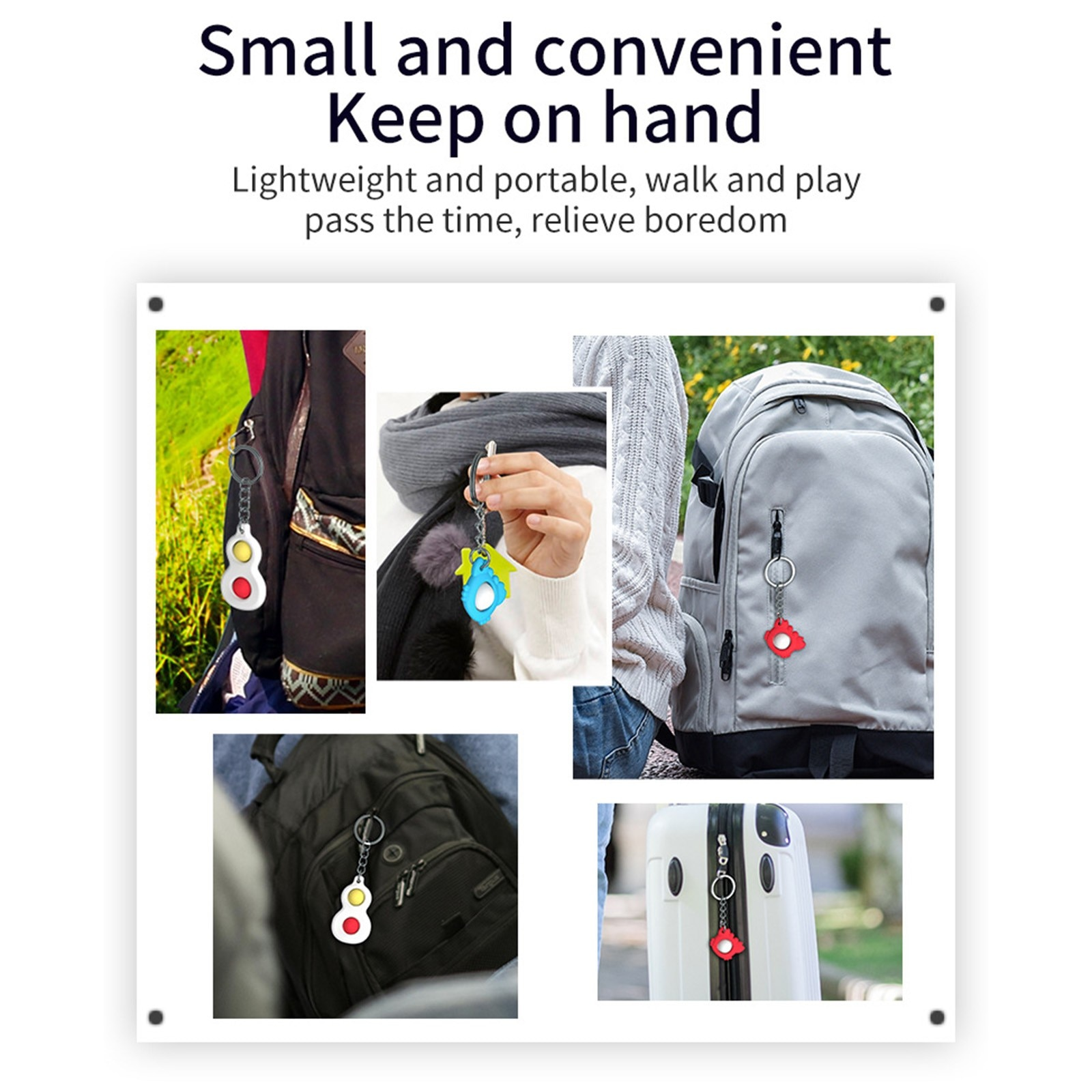 Decompression toy simple dimple keychain toy adult children stress relief hand toy anxiety autism toy 3PC мягкие игрушки 40* enlarge