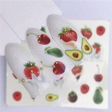 WUF 1 PC bonbons crème glacée été autocollant pour ongles mixte coloré fruits bricolage décalcomanies deau Nail Art décorations manucure outil