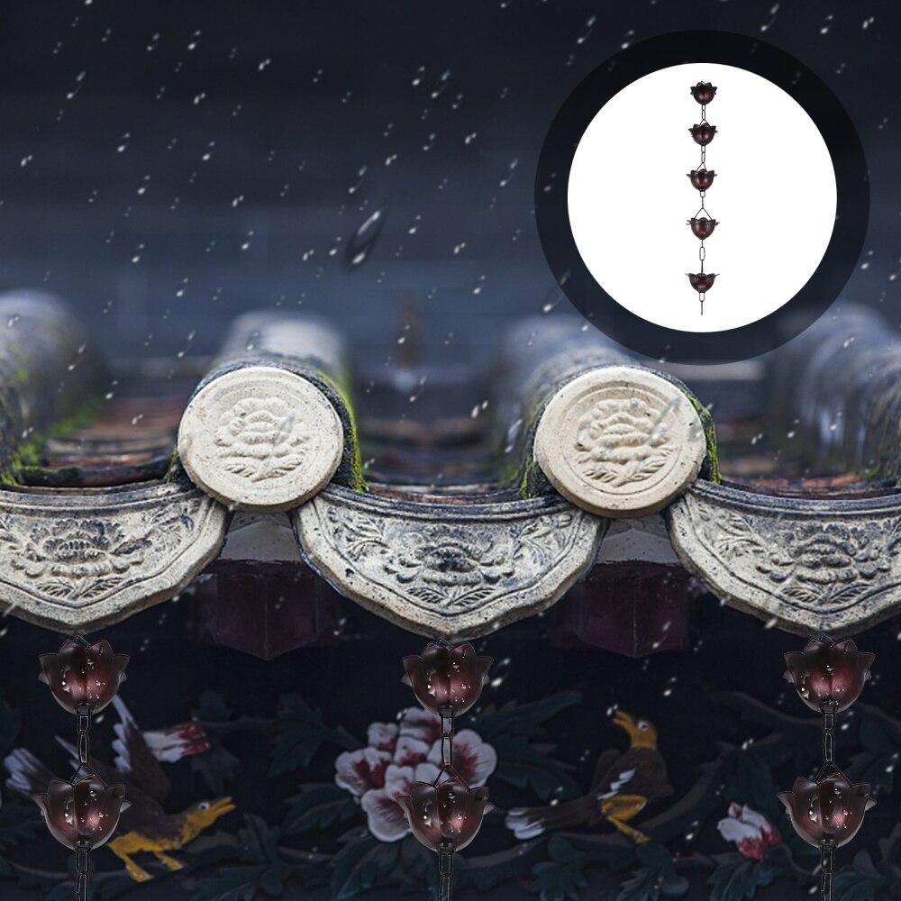1 متر سقف الزاوية سلسلة المطر زهرة نمط المطر الماسك إكسسوارات الحديقة