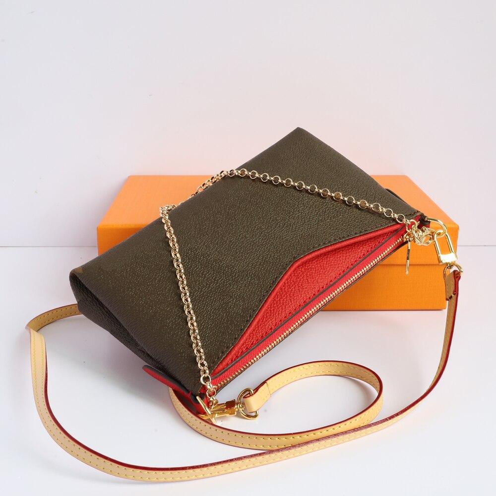 الفاخرة مصمم حقيبة يد حقائب كروسبودي للنساء جلدية الكتف حزام سلسلة حقيبة واحدة الكتف المحمولة حقيبة ساعي 41638