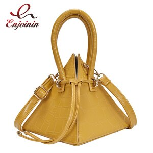 Three-dimensional Triangle Handbag for Women Fashion Shoulder Bag Cossbody Bag Female Purses Luxury Designer Bags Pu Leather Bag