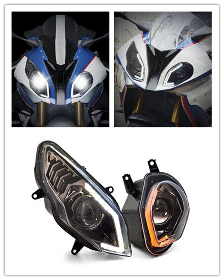 E-MARK موافقة KT كامل LED المصباح لسيارات BMW S1000RR S1000 RR 2015-2018 الجبهة الإضاءة مصباح دراجة بخارية الجمعية اكسسوارات 17