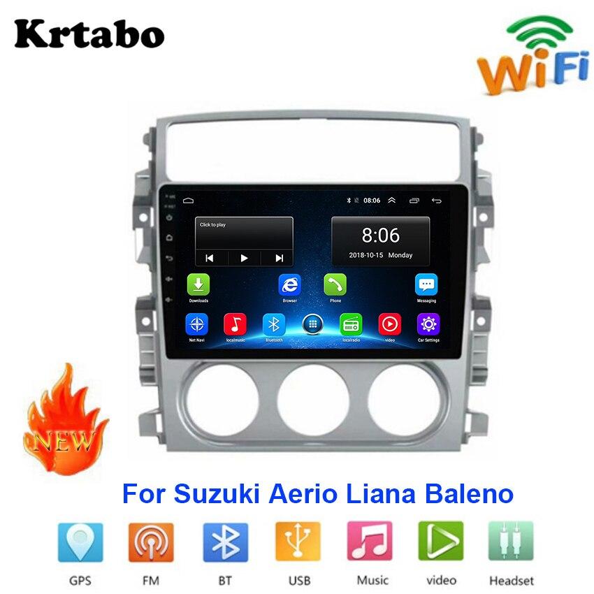 Radio de coche Android reproductor multimedia para Suzuki Aerio Liana Baleno pantalla táctil del coche soporte de navegación GPS Carplay Bluetooth WIFI
