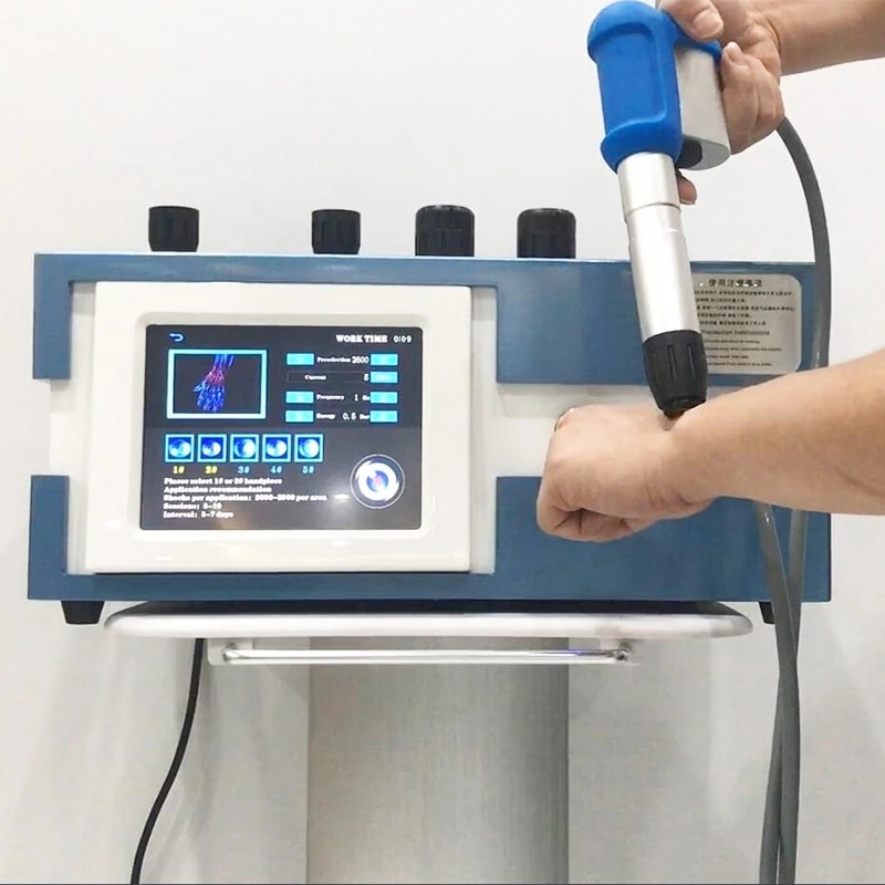 Popular Extracorporeal Shock Wave Phsiotherapy Equipment Salon Use Pneumatic Shockwave Therapy Health Care Body Pain Relief