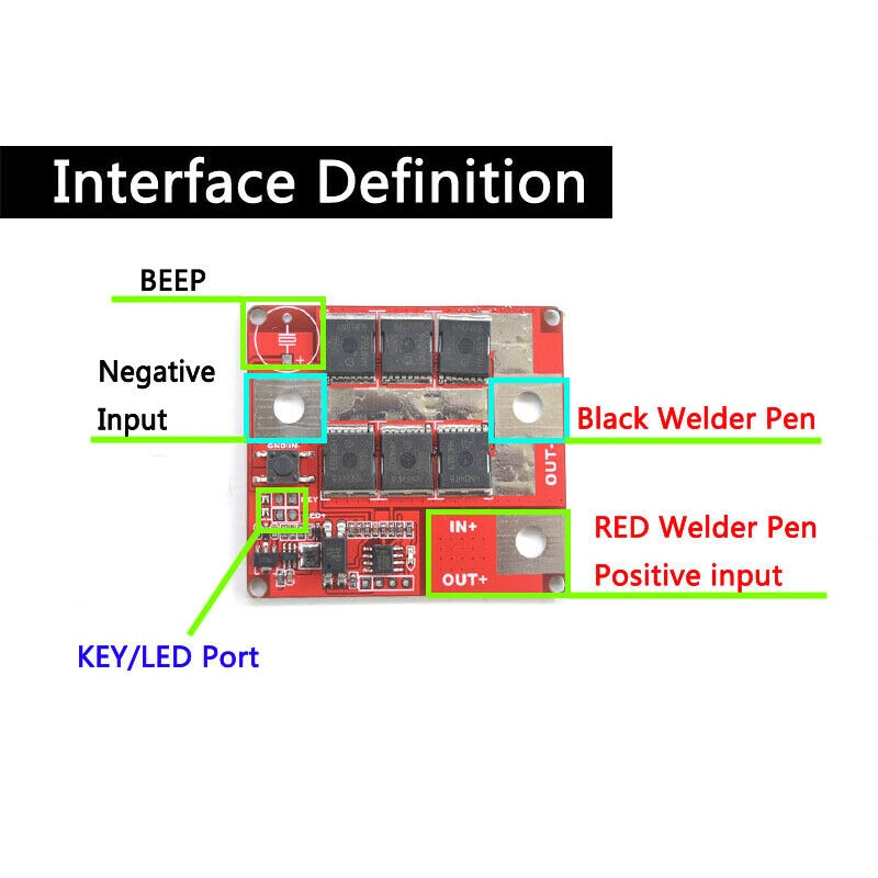 المهنية 6-24 فولت بطارية بقعة طاقم اللحام PCB لوحة دوائر كهربائية بقعة لحام القلم