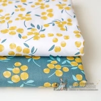 160x50cm gold fruit twill cotton sewing fabric handmade diy clothes bedding cloth