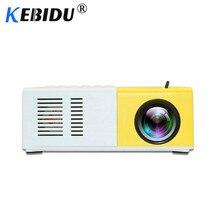 Kebidu J9 YG-300 Portable Mini Projector 1080P Support 1080P AV USB SD Card USB Mini Home Projector Portable Pocket Beamer