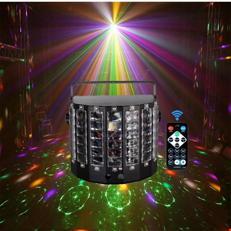 Диджейская светодиодная RGB дискотека, лазерный мини-пульт дистанционного управления DMX512, лазерный туманный аппарат, сценическое освещение, свадьба, ночь, KTV клуб