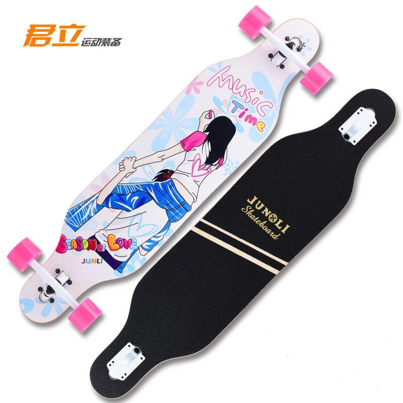 Лонгборд для начинающих, скейтборд, полная форма для серфинга, Кленовый Скейтборд, уличная Чистка Kaykay, аксессуары для скейтборда BI50SB