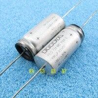 2PCS NEW RIFA PEG124 63V100UF 13x28MM HiFi Audio axial electrolytic capacitor PEG 124 100uF/63V Filter amplifier 63V 100uF