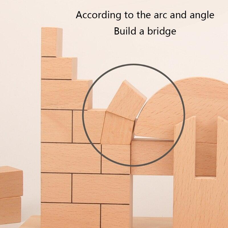 Блоки Монтессори с римской аркой, интерактивные образовательные детские блоки, сенсорные штабелируемые блоки для малышей, 1 комплект