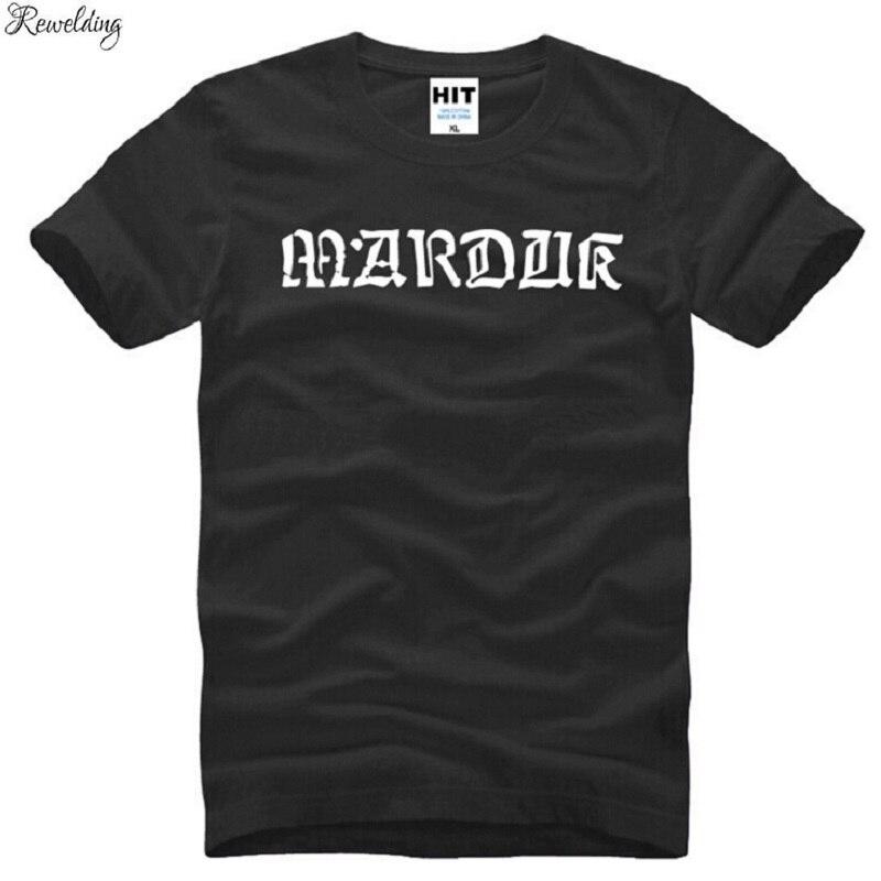 Camiseta con estampado de Metal Rock Marduk para hombre, Camiseta de algodón...