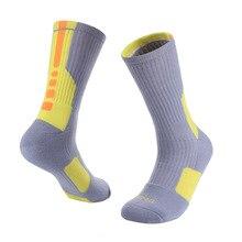 Sports Socks On For Racing Hiking MTB Road Bike Bicycle Socks Breathable Cotton Knee-High Cycling Socks Geometric Winter