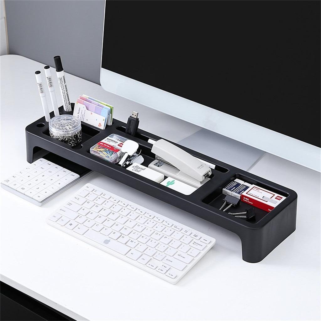 Armazenamento de escritório rack mesa de papelaria titular desktop organizador computador teclado livros mini gabinete almofada telefone organizador