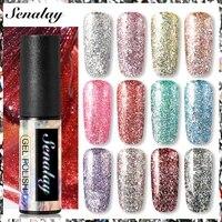senalay platinum nail gel polish manicure nail art set for painting decoration uv led base top coat hybrid gel varnishes
