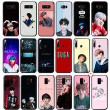 Suga K Pop Min Yoongi K Pop étui pour Samsung Galaxy S10 S10e S9 S8 Plus S7 Edge pour Samsung Note 10 9 8 Plus