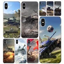 Mundo dos tanques telefone capa para iphone 11 pro 7 8 6 s plus + x xs max xr 5 5S se moda arte tpu coque escudo capa