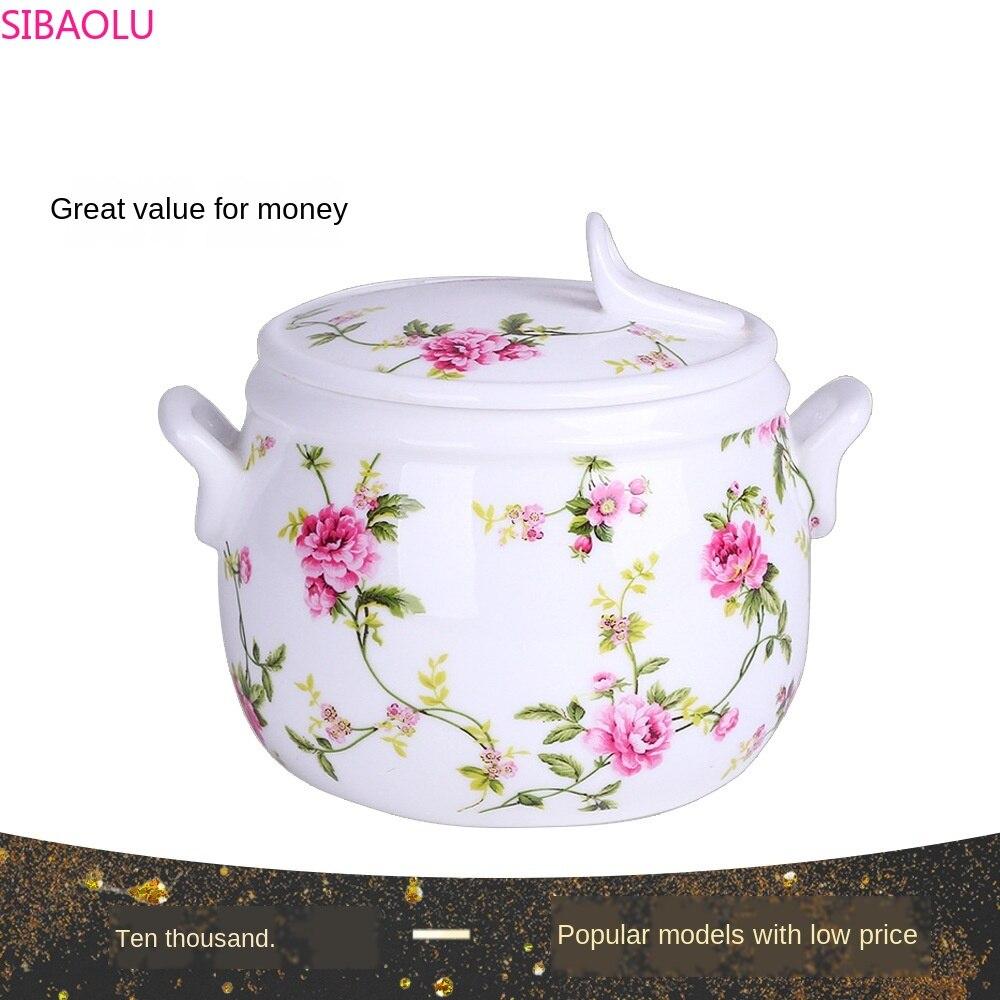 Xícara de porcelana Copo Cozido Sopa Japonês Porcelana Tigela de Sopa Panela de Cozido Ginseng ninho de Pássaro Copo Tigela com Tampa de Água estufado do Agregado Familiar
