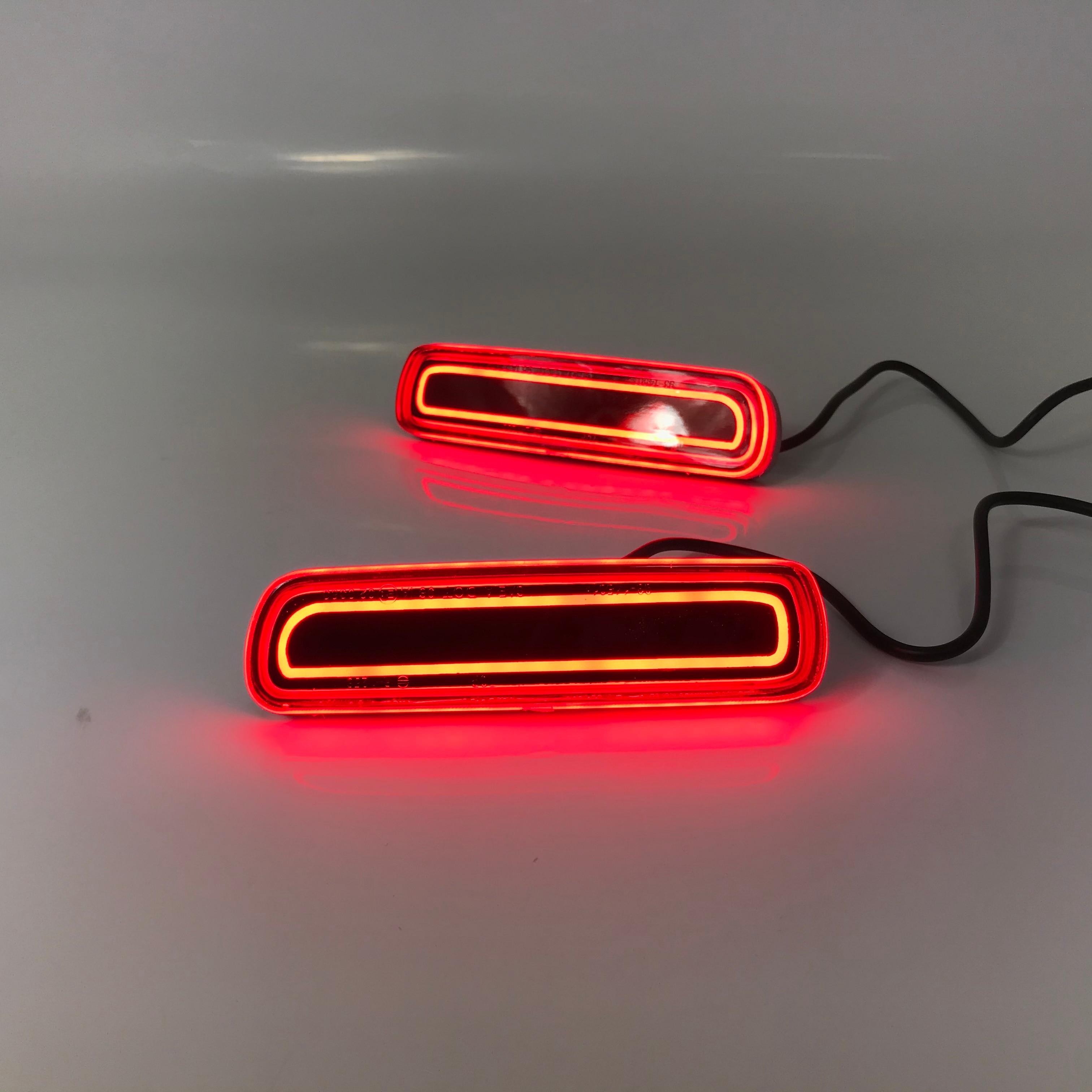 Montaje de luz de parachoques trasero Luz de Freno Led para Toyota land cruiser lc100 lexus lx470, 2 uds